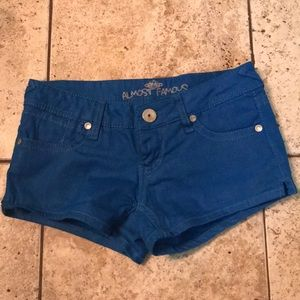 Almost Famous Shorts Glittery Size 0